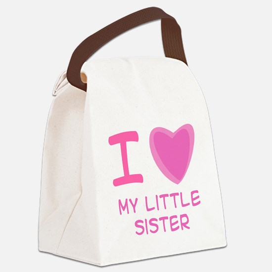 little sister girl.png Canvas Lunch Bag