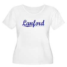 Lanford, Blue, Aged T-Shirt