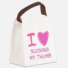 sucking thumb.png Canvas Lunch Bag