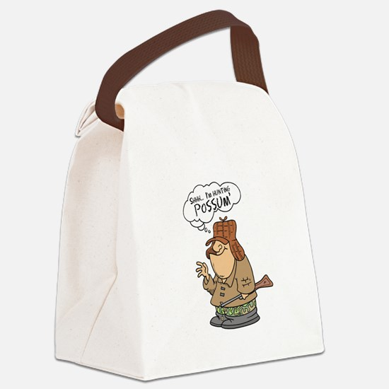 possum hunter.png Canvas Lunch Bag