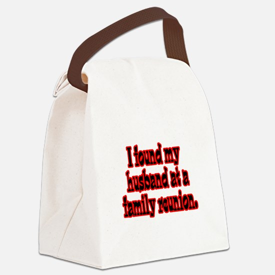 found my husband.png Canvas Lunch Bag