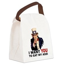 EAT MY ASS.png Canvas Lunch Bag