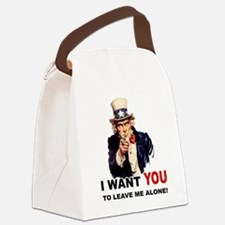LEAVE ME ALONE.png Canvas Lunch Bag