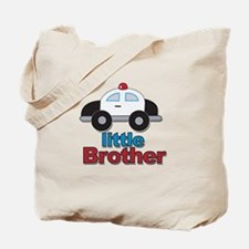Little Brother Police Car Tote Bag