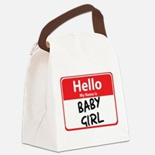 baby girl.png Canvas Lunch Bag