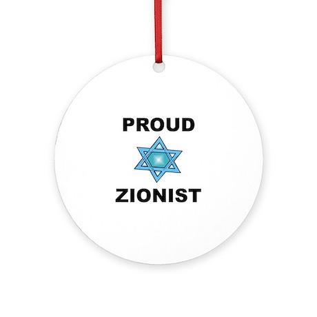 Proud Zionist Ornament (Round)