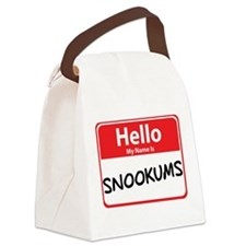 snookums.png Canvas Lunch Bag