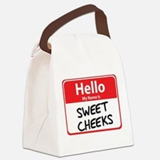 sweet cheeks.png Canvas Lunch Bag