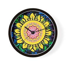 Sunflower Omm Wall Clock