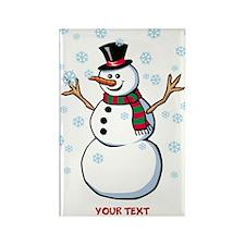 Custom Snowman Rectangle Magnet