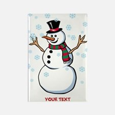 Custom Snowman Rectangle Magnet