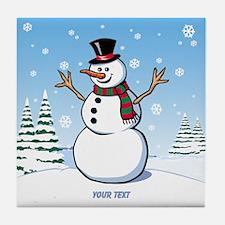 Custom Snowman Tile Coaster