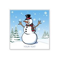 Custom Snowman Square Sticker 3