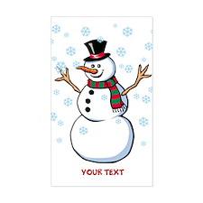 Custom Snowman Sticker (Rectangle)