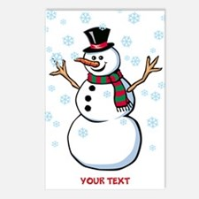 Custom Snowman Postcards (Package of 8)