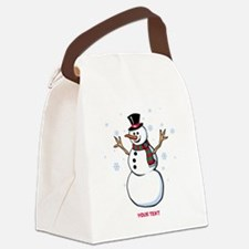 Custom Snowman Canvas Lunch Bag