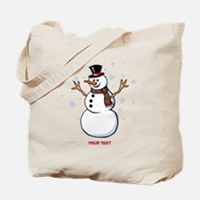 Custom Snowman Tote Bag