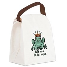 kiss me or ill fart.psd Canvas Lunch Bag