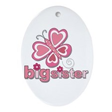 Butterfly Big Sister Ornament (Oval)
