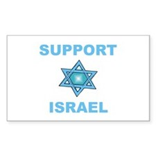 Support Israel Star of David Rectangle Decal