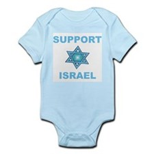 Support Israel Star of David Infant Creeper