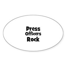 PRESS OFFICERS Rock Oval Decal