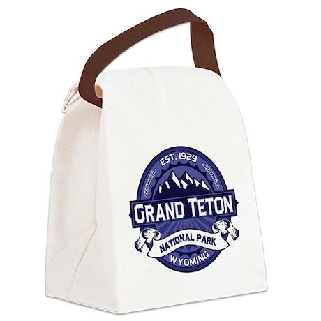 Grand Teton Midnight Canvas Lunch Bag