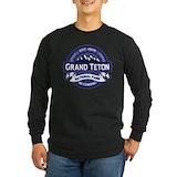 Grand teton Long Sleeve T-shirts (Dark)