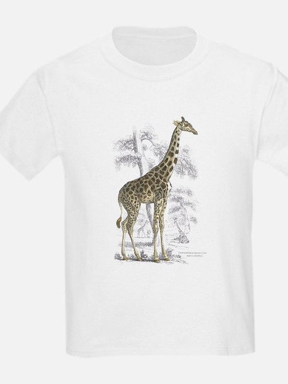 Giraffe (Front) Kids T-Shirt