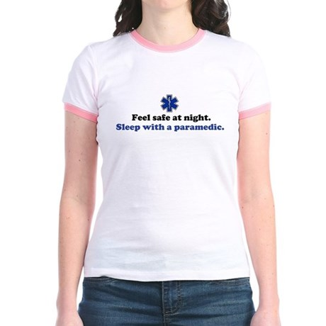 Sleep with a Paramedic Jr. Ringer T-Shirt