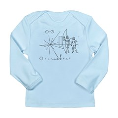 Pioneer Plaque Long Sleeve Infant T-Shirt