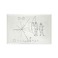 Pioneer Plaque Rectangle Magnet