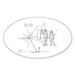 Pioneer Plaque Sticker (Oval)