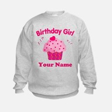 Birthday Girl Cupcake Sweatshirt