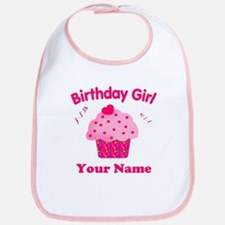Birthday Girl Cupcake Bib