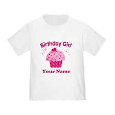 Birthday Girl Cupcake T