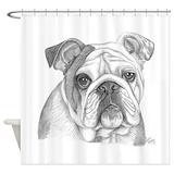 Bulldog Shower Curtains