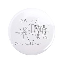 """Pioneer Plaque 3.5"""" Button (100 pack)"""