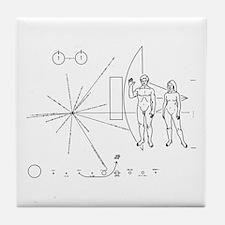 Pioneer Plaque Tile Coaster