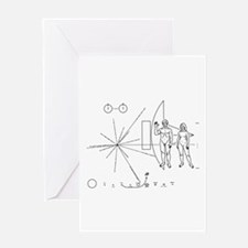 Pioneer Plaque Greeting Card