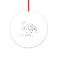 Pioneer Plaque Ornament (Round)