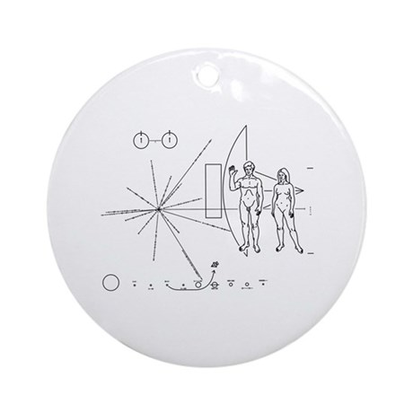 Pioneer Plaque Ornament (Round)