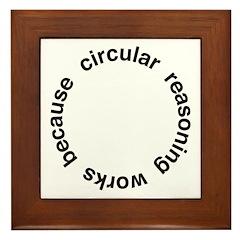 Circular Reasoning Framed Tile