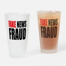 Fake News Fraud Drinking Glass