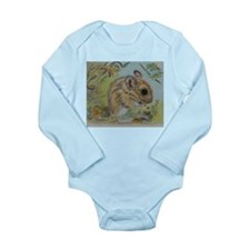 Wood Mouse Eating an Acorn Long Sleeve Infant Body
