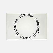 Circular Reasoning Rectangle Magnet (10 pack)