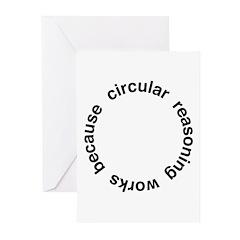 Circular Reasoning Greeting Cards (Pk of 20)