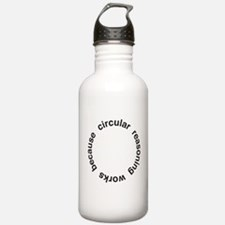 Circular Reasoning Sports Water Bottle