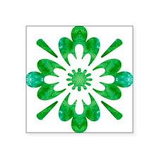 "Snowflake Wow Flower Square Sticker 3"" x 3"""