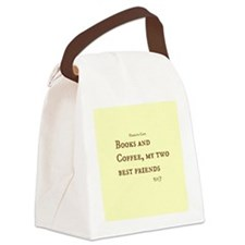 Books and Coffee BFF Canvas Lunch Bag